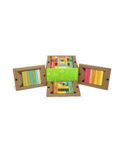 Tegu Classroom Kits - 90 Piece set in Tints